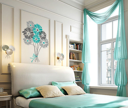Modern day decor : Aqua Bedroom decor:-)