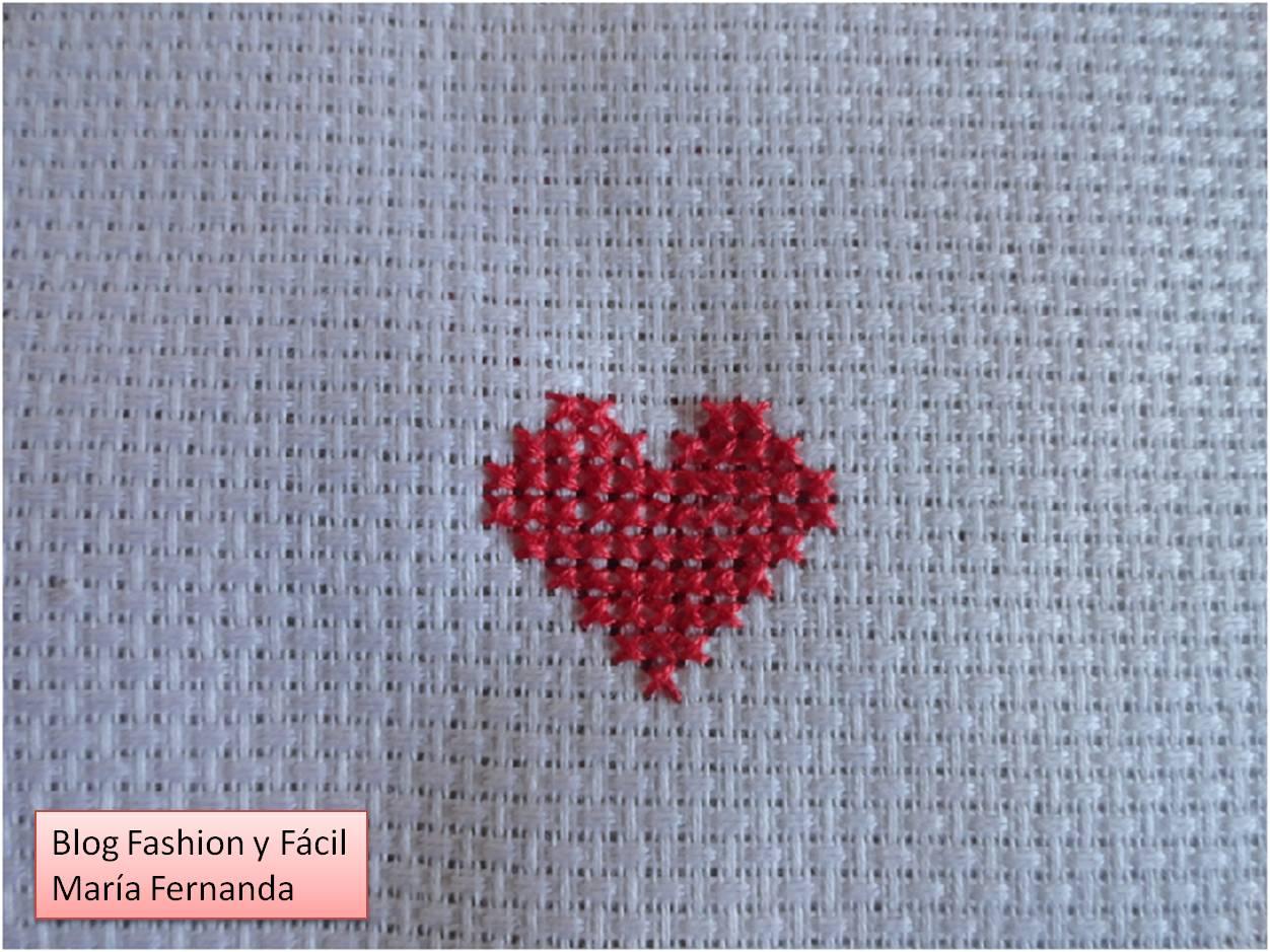 Fashion y f cil tutorial de c mo bordar en punto de cruz - Dibujos para hacer punto de cruz ...
