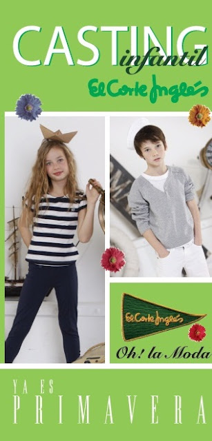 CASTING INFANTIL EL CORTE INGLES DE 2 A 14 AOS