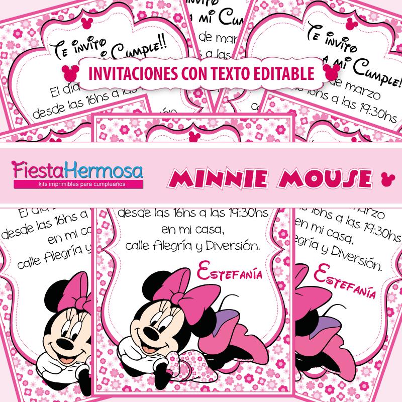 Fiesta Hermosa: NUEVO! Decoraciones imprimibles Minnie Mouse