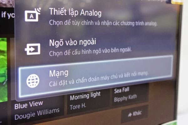 Hướng dẫn kết nối mạng cho Tivi Sony qua wifi 2