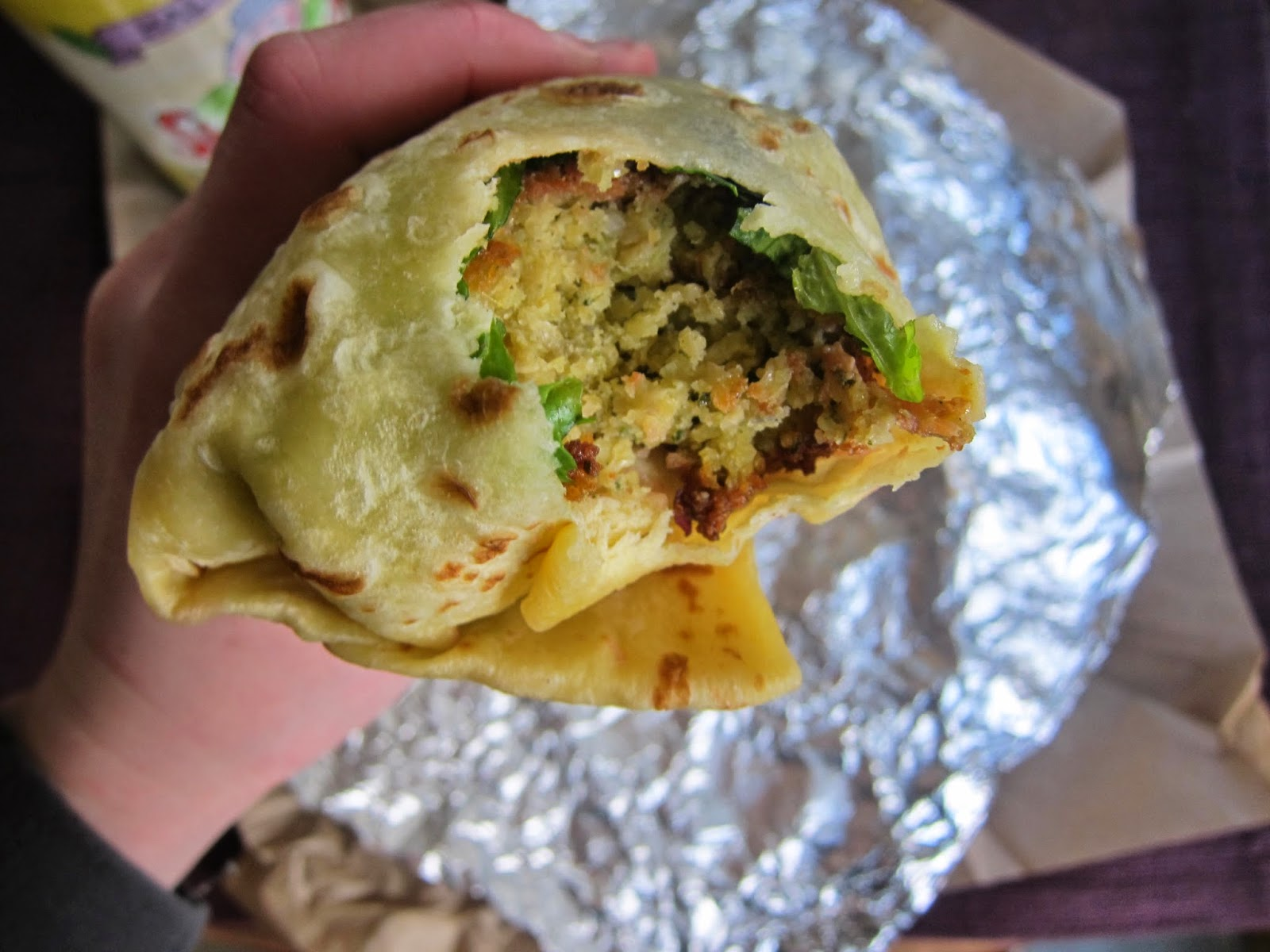 Falafel Gozi from Piperi Mediterranean Grill in Boston | The Economical Eater