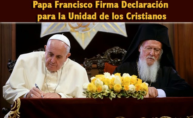 Papa Francisco union con ortodoxos