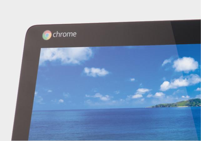 логотип Chrome OS на моноблоке Acer Chromebase