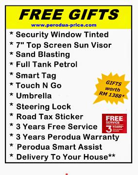 Perodua Price Free Gifts