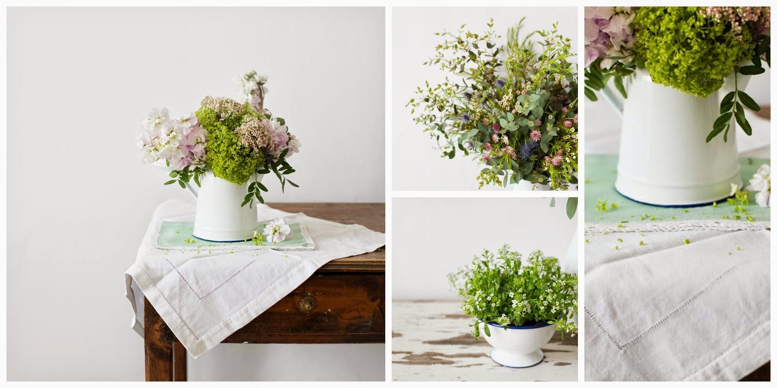Decoración con Peltre y Flores