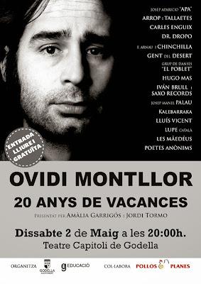 Homenatge a l'Ovidi Montllor (Cartell del concert)