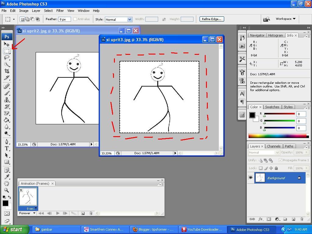 cara membuat animasi gerak gif