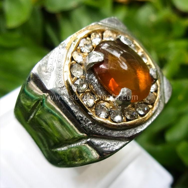 Cincin Batu permata Fire Opal - SP523
