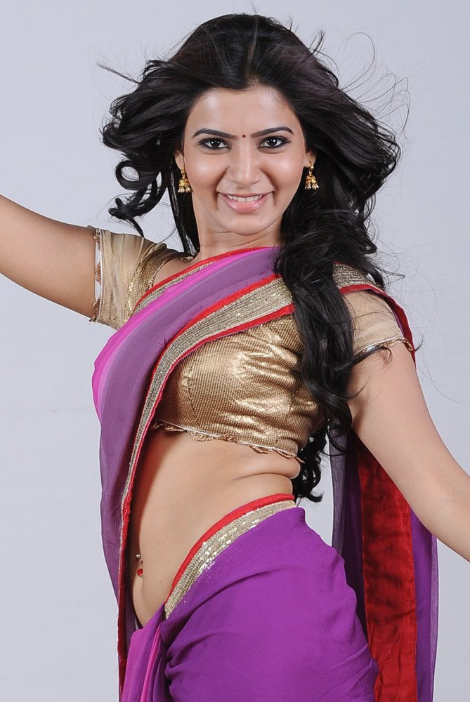 Samantha Hot Navel Saree Photoshoot Stills Images