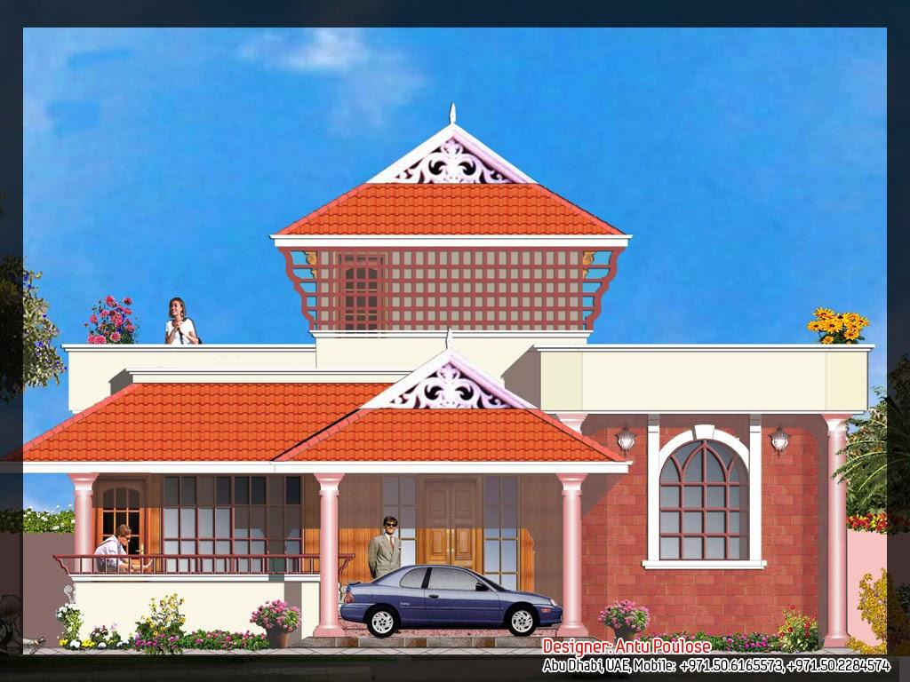 Kerala style villa 5 engineering dairy for Villa front elevation photos kerala