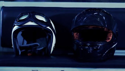 Huh Gak I Told You I Want to Die screen shot motorcycle helmets symbolism meaning