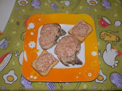 lonza alla mortadella con crostini