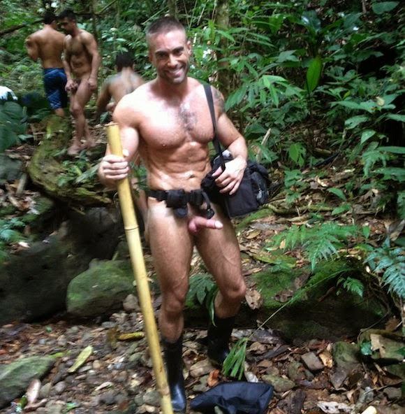 nude Gay hiking male
