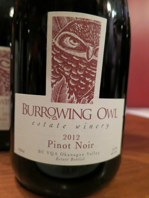 Wine Review of 2012 Burrowing Owl Pinot Noir from BC VQA Okanagan Valley, British Columbia, Canada (89 pts)