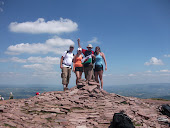 Top of Pen-Y-Fan. Rich, Alys, Dad, Me