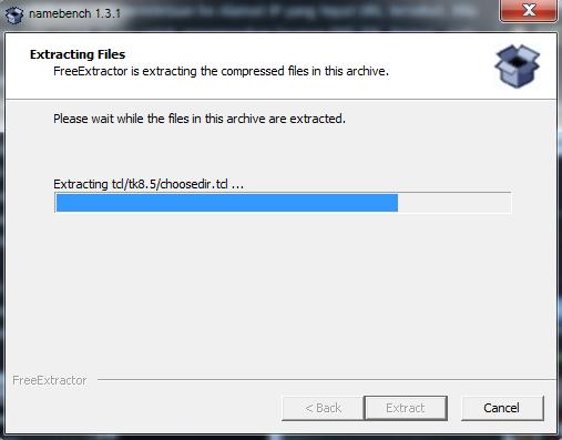 Tunggu proses loading extract files selesai