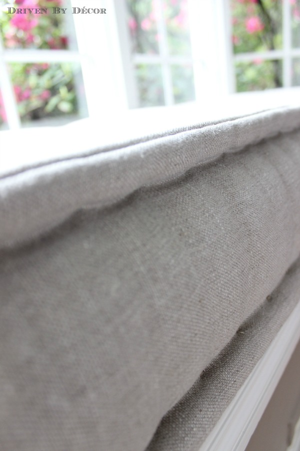 Our French Mattress Style Window Seat Cushion