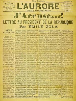 Émile Zola's J'accuse