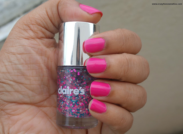 Graffiti nail color from Claire's