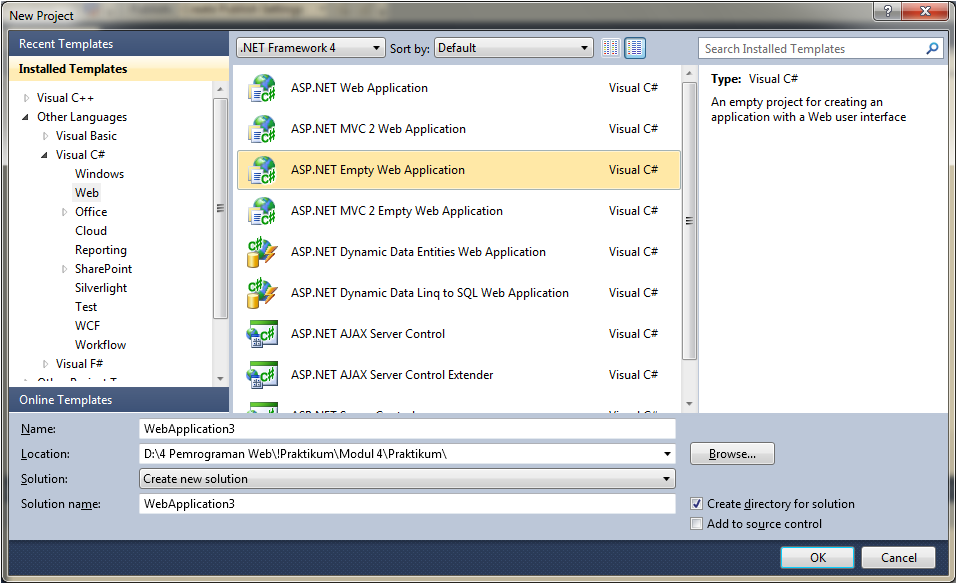 how to connect database in visual studio 2010 c#