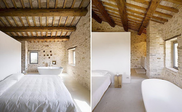 Estilo rustico villa rustica en italia - Techos rusticos interiores ...