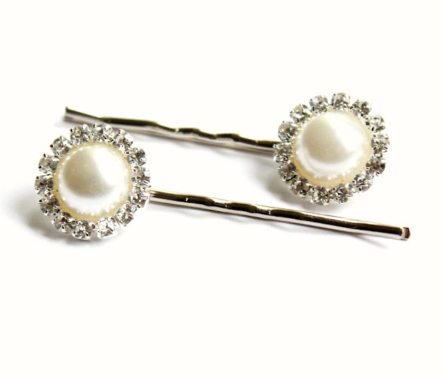 pearl and rhinestone bobby pins - catherine masi / summer 2013
