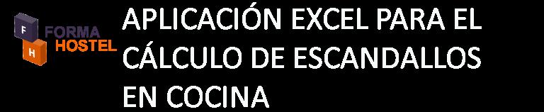 ESCANDALLOS COCINA EXCEL