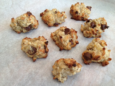 Healthy Banana Coconut Chocolate Chip Cookies