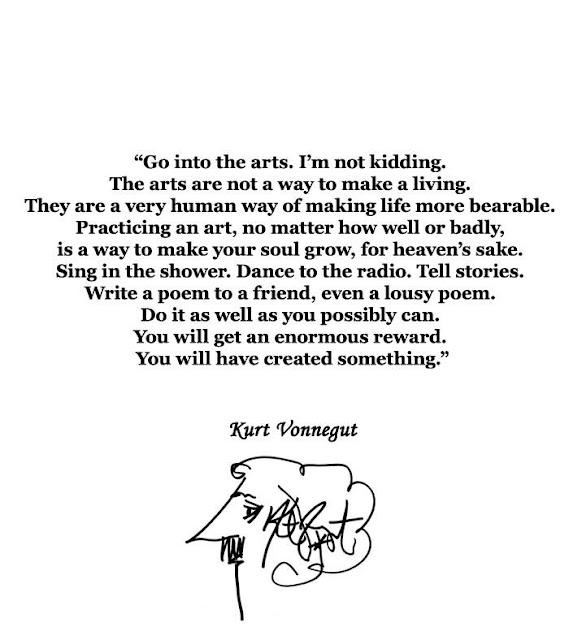 "Kurt Vonnegut ""Go into the Arts"""