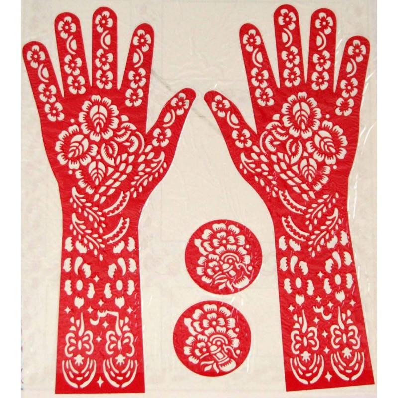 pochoir pour tatouage au henn. Black Bedroom Furniture Sets. Home Design Ideas