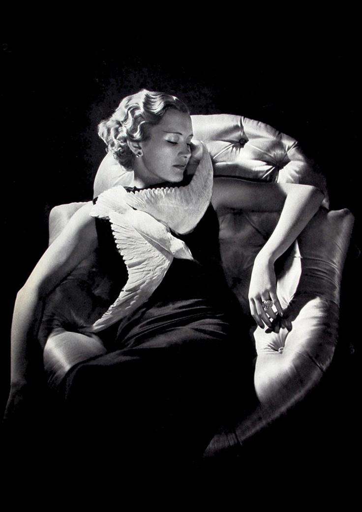 Marcel Rochas Oiseau evening gown in Harper's Bazaar April 1934 via www.fashionedbylove.co.uk