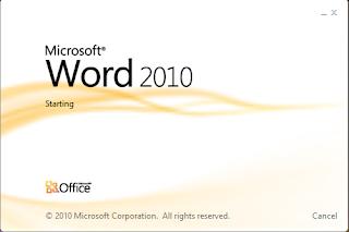 cara belajar microsoft word 2010