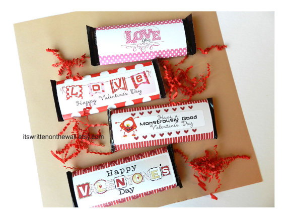 Valentine Hershey Candy Bar Wraps!