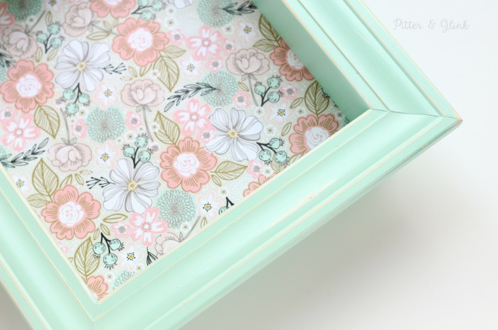 The Perfect Spring-Inspired DIY Shadowbox Shelf pitterandglink.com