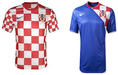 Croatia Home+Away Euro 2012 Kits (Nike)
