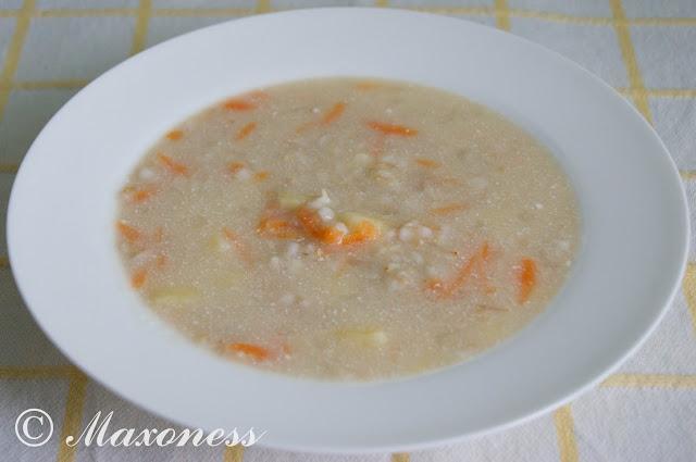 Овсяный суп на мясном бульоне