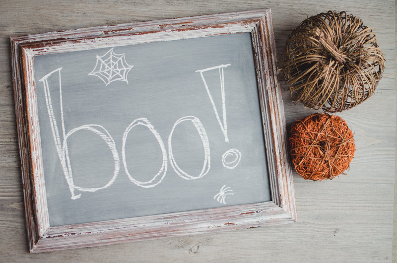 Halloween Chalkboard:  boo! | personallyandrea.com