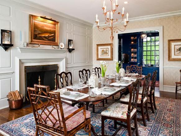 Contoh Desain Ruang Makan Klasik Modern