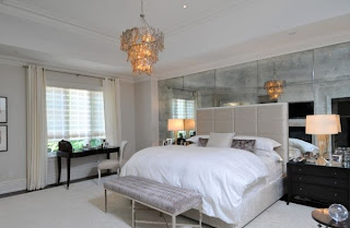 dormitorio matrimonial gris plata