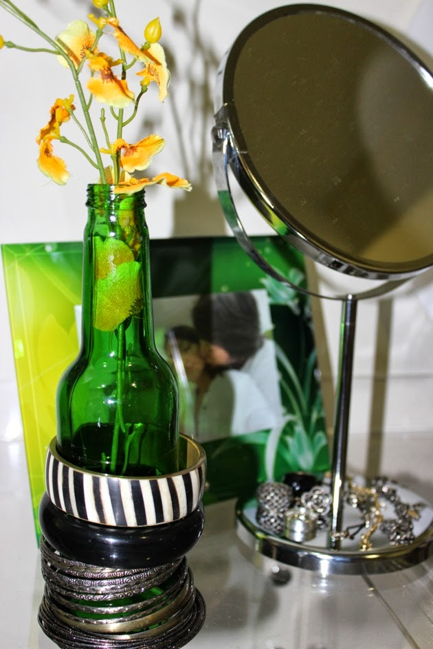 decoração, DIY, garrafa como porta pulseiras, porta pulseiras criativos
