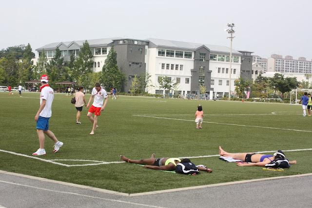 Sân bóng ngoài trời trường đại học Nambu