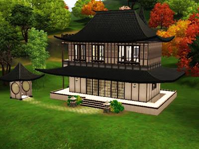 sims 3 china pagoda