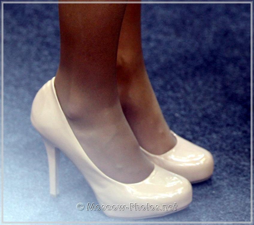 Beige High Heel Shoes