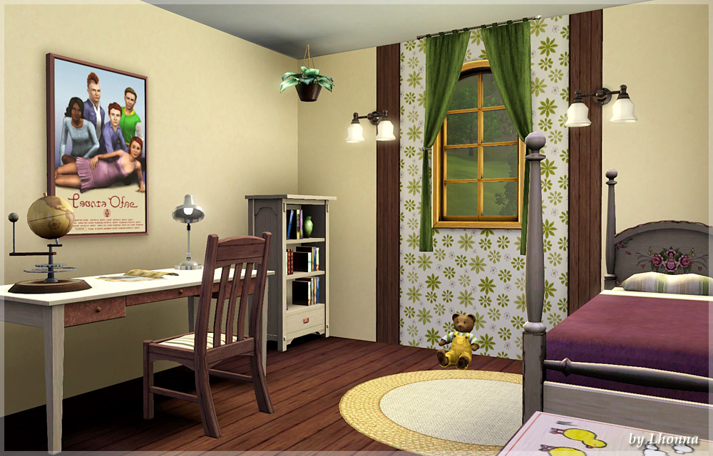 My sims 3 blog sunflower small house for a family by lhonna for Tiny house blog family