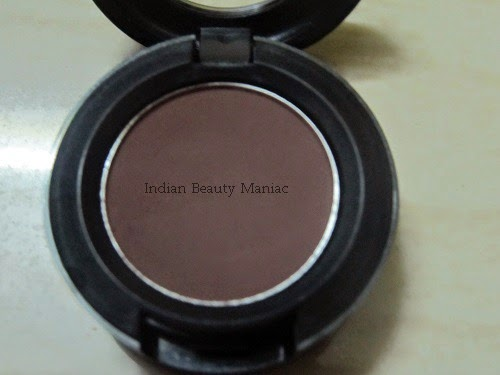 MAC Matte Eyeshadow Embark, brown eyeshadow, crease color, outer v eyeshadow, mac eyeshadows in india, versatile mac eyeshadow, Indian Beauty blogger,