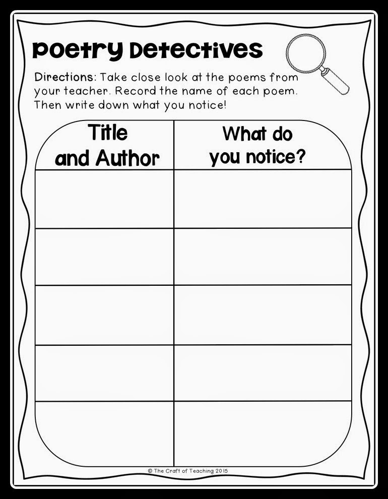 https://www.teacherspayteachers.com/Product/Poetry-Detectives-Graphic-Organizer-361440
