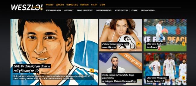 Nowy layout serwisu weszlo.com