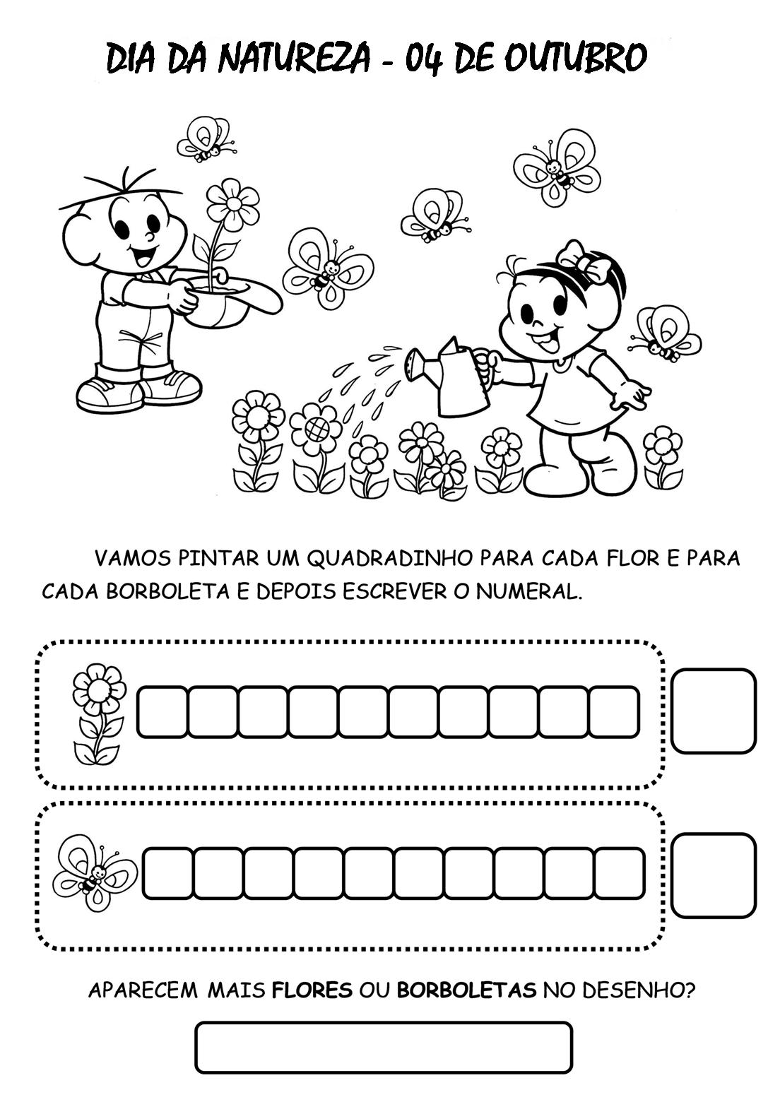 flores no jardim letra:Atividades Para Imprimir