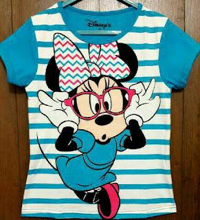 Baju Anak Karakter Minie Mouse Salur Size 1 - 6 Tahun